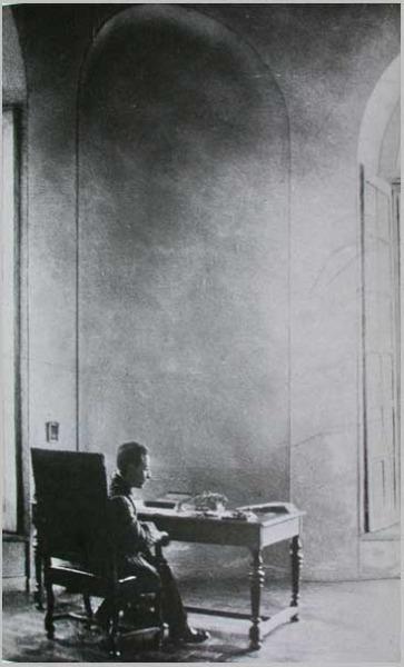 Rainer Maria Rilke at work, Hotel Biron, Paris