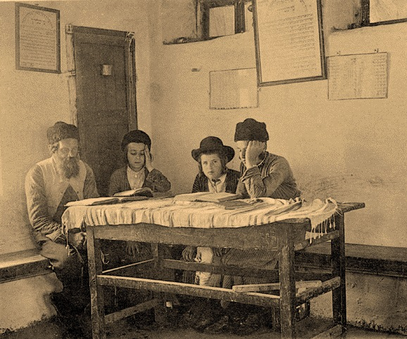Cheder_in_Meron,_1912