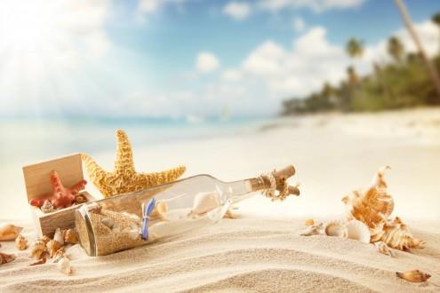 summer-tropical-vacation-sunshine-beach-sand-bottle-message-seashells-starfish-beach-sand-summer-sea-sports-sun-shells-a-letter-in-a-bottle-beach