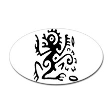tribal_monkey_oval_decal
