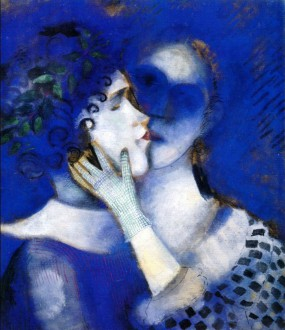 1914 Marc Chagall (1887-1985) Blue Lovers 1914