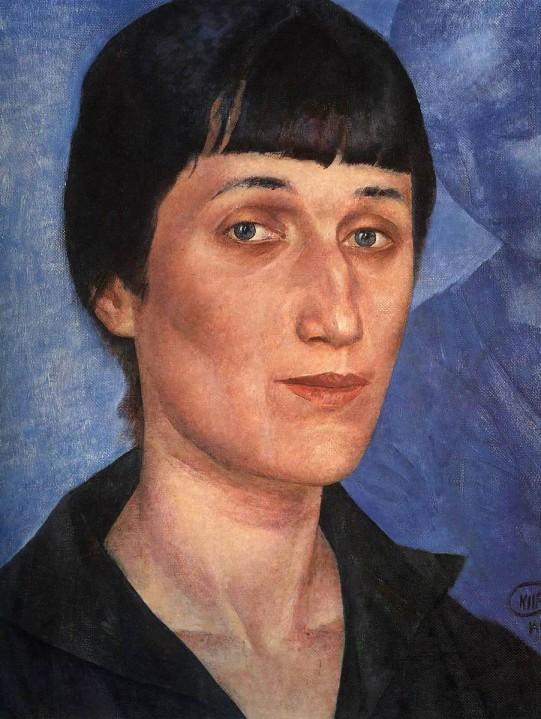 Kuzma_Petrov-Vodkin._Portrait_of_Anna_Akhmatova._1922
