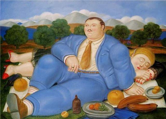 The Nap - Fernando Botero
