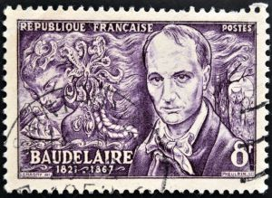 13877238-FRANCE-CIRCA-1951-A-stamp-printed-in-France-shows-Baudelaire-circa-1951-Stock-Photo