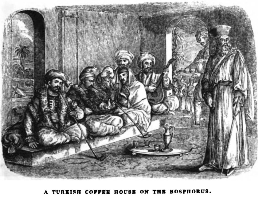 A_Turkish_coffee_house_on_the_Bosphorus._Edmund_Spencer_(capt.)._Travels_in_the_western_Causasus.1838._cover