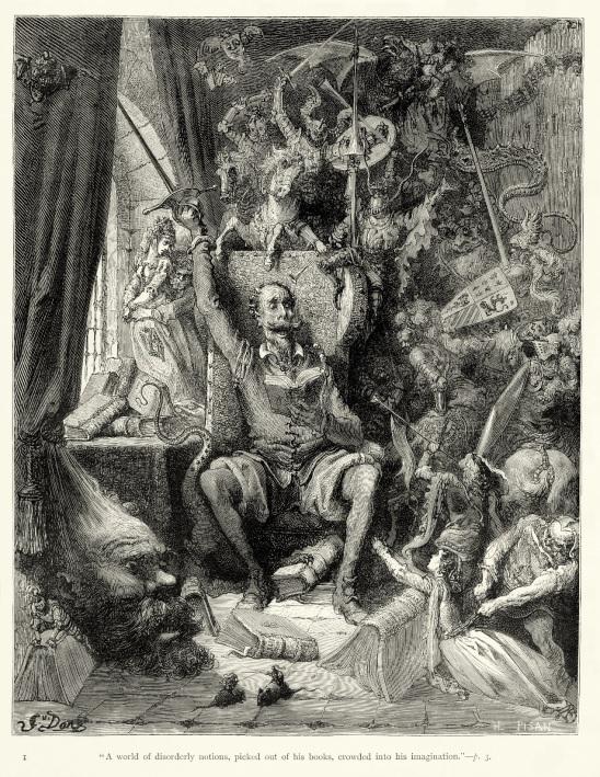 Το πρώτο στη σειρά χαρακτικό του Doré για την έκδοση του 1863, εδώ σε αναπαραγωγή από Αγγλική έκδοση του 1906