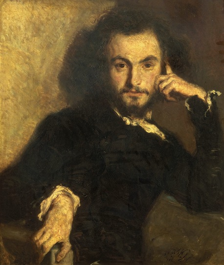 Portrait of Baudelaire painted in 1844 by Emile Deroy 1820–1846