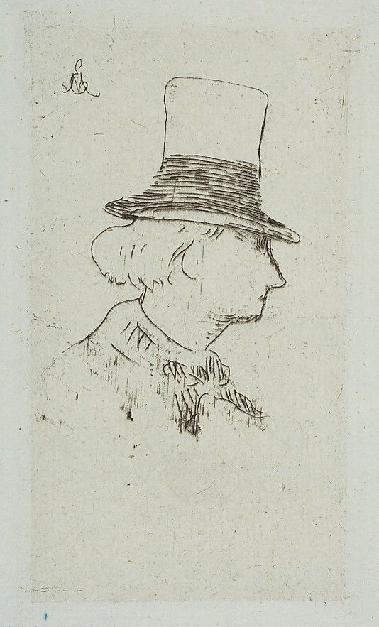 Portrait of Charles Baudelaire in profile Édouard Manet 1862-67