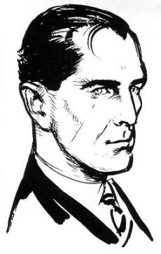 Fleming's sketch showing his concept of the James Bond character.