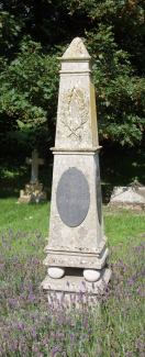 Ian Fleming's grave and memorial at Sevenhampton