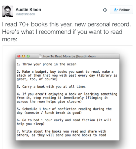 kleon-reading-tips