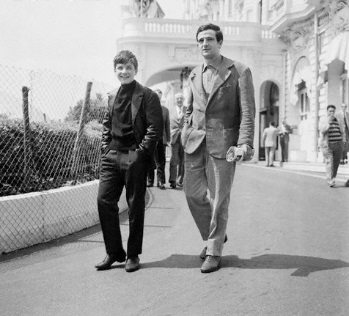 Με τον Truffaut παιδί ακόμα, στις Κάννες το 1959, για τα «400 Χτυπήματα»