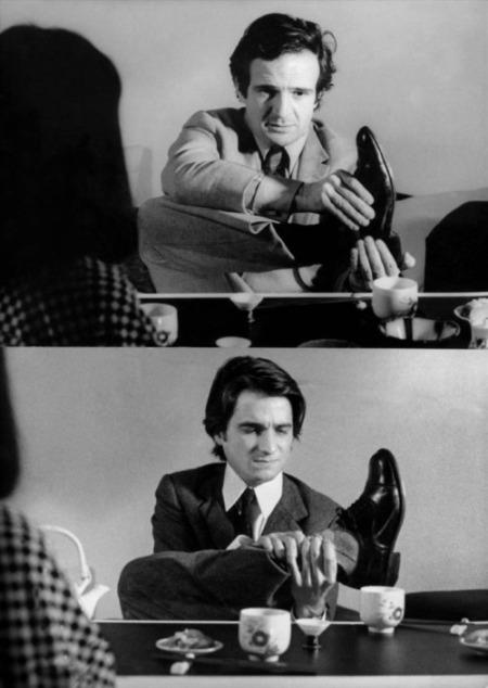 Ο Truffaut, σκηνοθετώντας τον Léaud, το 1970.