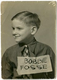 "Grade school snapshot photograph of ""Bobbie Fosse"" having ""age 6 yrs"" longhand penciled verso"