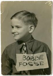 "Grade school snapshot photograph of ""Bobbie Fosse"" having ""age 6 yrs"" longhand penciled verso"