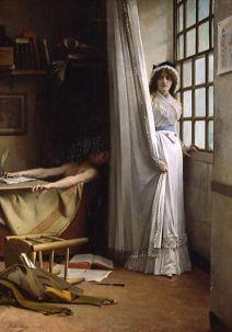 «Charlotte Corday et Marat» (1880), Vizille, Musée de la Révolution française.