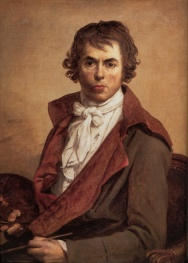 Αυτοπροσωπογραφία (αν και σκόπιμα εξωραϊσμένη) του David, 1794, Μουσείο του Λούβρου.