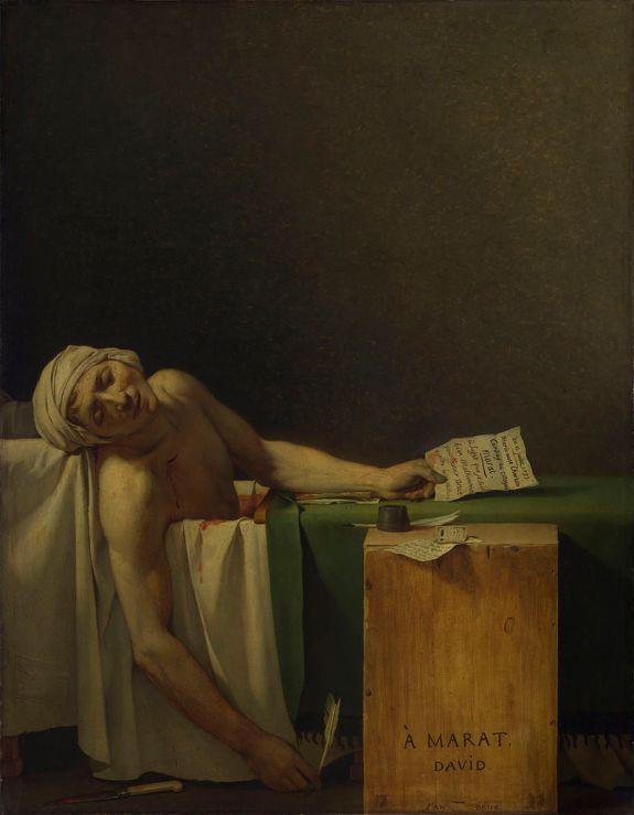 Ο «Θάνατος του Μαρά» του Jacques-Louis David, Βασιλικό Μουσείο Τεχνών, Βέλγιο.