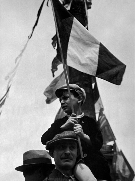 FRANCE. Paris. Place de la Bastille. Popular Front demos on July 14th 1936.