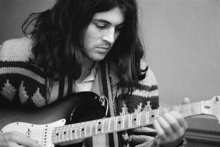 Singer Ian Gillan of  Playing Guitar