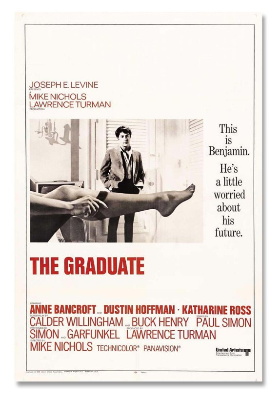 Perhaps the most iconic of all photos of Nylon stockings: Anne Bancroft seducing Dustin Hoffman in 1967's 'The Graduate.'
