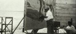 Ο Σορόγια ζωγραφίζοντας στο Καμπανιάλ της Βαλένθια. 1909