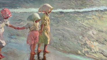 Las tres hermanas en la playa. Οι τρεις αδερφές στην παραλία