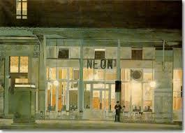 Γιάννης Τσαρούχης, Το καφενείο «Νέον» τη νύχτα.