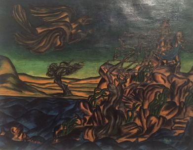 Injy Efflatoun, Το κορίτσι και το Τέρας, 1941.
