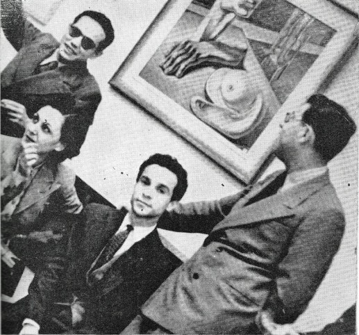 Από αριστερά προς τα δεξιά: Georges Henein, Fuad Kamel, Ikbal El Alailly, και Ramses Younan.