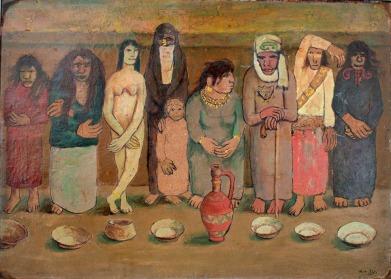 Abdel Hadi el-Gazzar, Λαϊκή χορωδία, 1949 (Collection Naguib Sawiris).