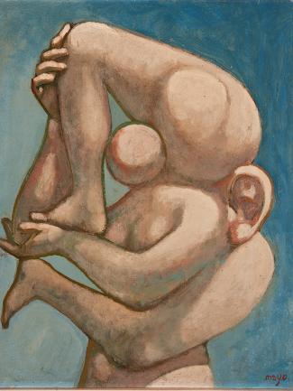 Mayo: Portrait, 1937, λάδι σε καμβά. Ευρωπαϊκό Πολιτιστικό Κέντρο Δελφών.