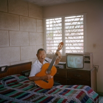 CUBA. Cardenas. 2016. Cecilio Pak Kim, a Cuban-Korean musician who lives in Cardenas, which holds one of the biggest communities of Korean descendants in Cuba.