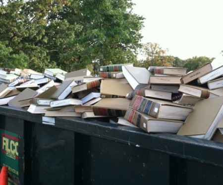 law-books-in-dumpster