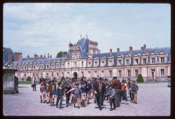 May-11-1960-Description-Slide-French-school-boys-on-tour-at-Fontaine-bleau
