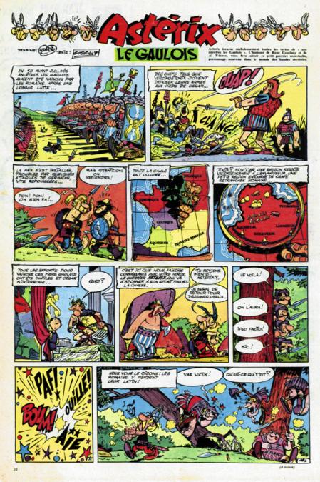 FirstVersions_Asterix_First-strip-1959