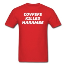 covfefe-killed-harambe-men-s-t-shirt