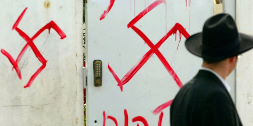 Synagogue Walls Desecrated With Anti-Semitic Graffiti