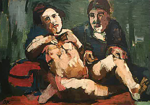 Self-portrait with Doll, 1921