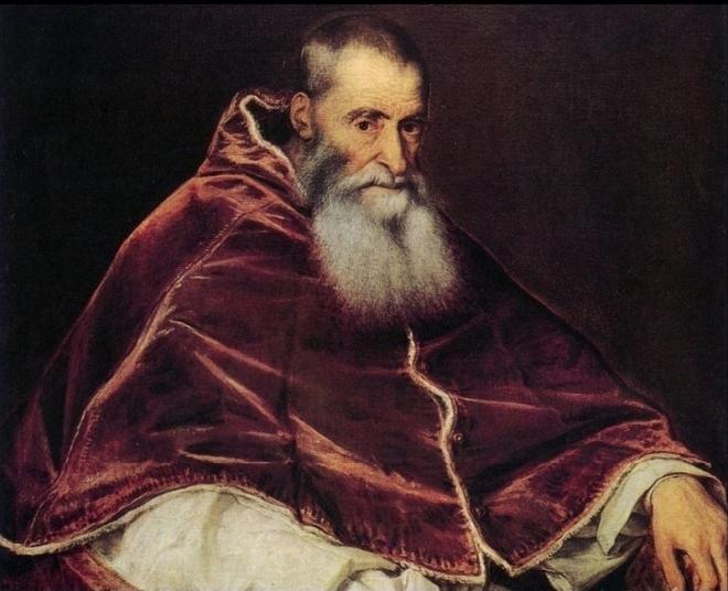Tiziano Vecellio, Ritratto di Papa Paolo III, 1543