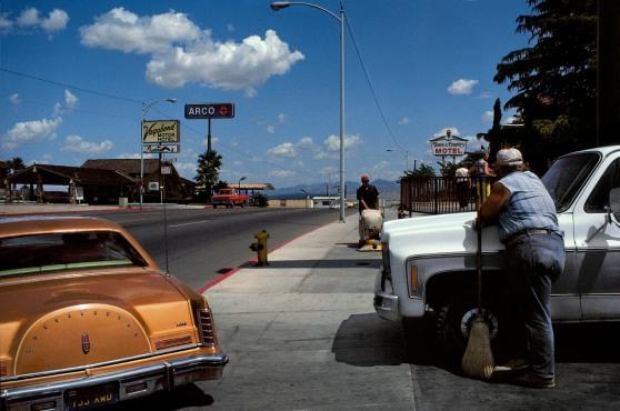 USA. Nevada & Utah. On the road between Los Angeles and Las Vegas. 1982.