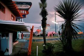 USA. Nevada. Las Vegas. Entrance to the Desert Isle Hotel. 1982.