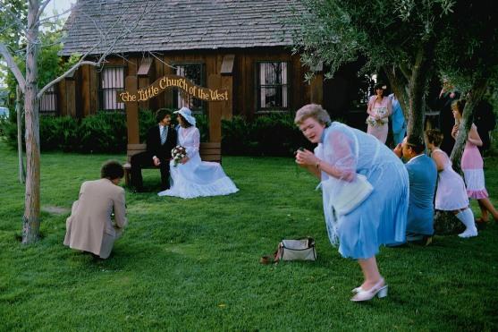 USA. Nevada. Las Vegas. Scene around a wedding chapel. 1982.