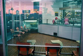 USA. Nevada. Las Vegas. Ice cream parlour. 1982.