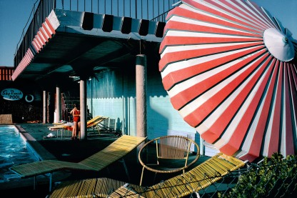 USA. Nevada. Las Vegas. Motel downtown Las Vegas. 1982.