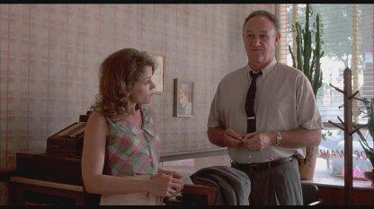 Με τον Τζιν Χάκμαν στο «Ο Μισισιπής καίγεται», 1988.