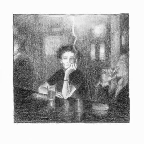 Γυναίκα σε μπαρ